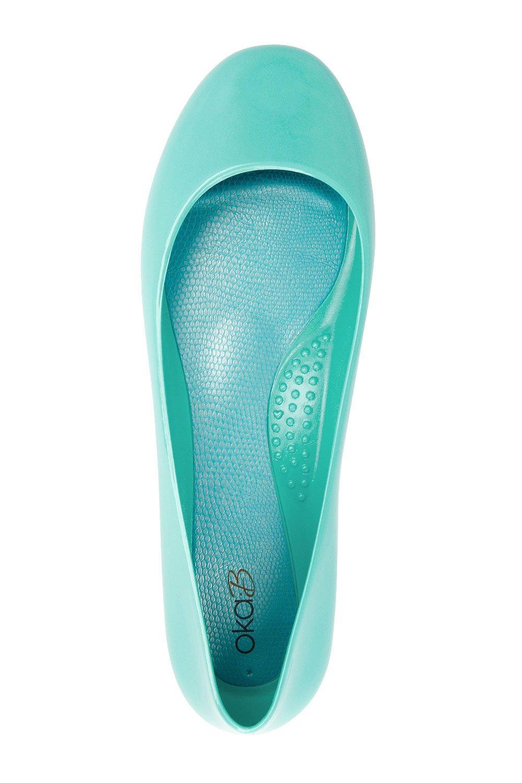 Oka-B Women Taylor Flat (8 B(M) US, Sea Glass)