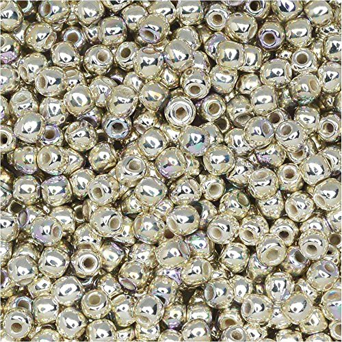 True2 Czech Glass, Round Druk Beads 2mm, 190-200 Pieces, Silver Plated AB (Druk Beads Glass Ab Czech)