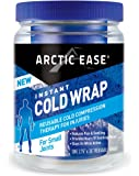 "Arctic Ease Reusable Instant Cold Wrap, small size, measures 2 ¾"" X 36"", sized for small joints/muscles including wrist, elbow, foot, ankle, bicep, triceps and hands,  Blue"