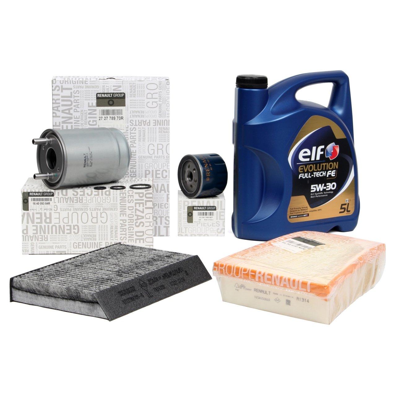 Kit Servicio: Filtros Originales motor 1.5dCi + Aceite Motor ...