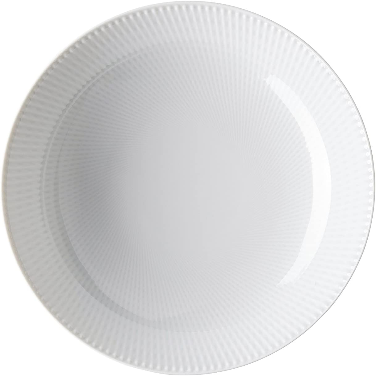 Blend Blanco Plato hondo (22 cm, relieve 3: cruzado: Amazon.es: Hogar