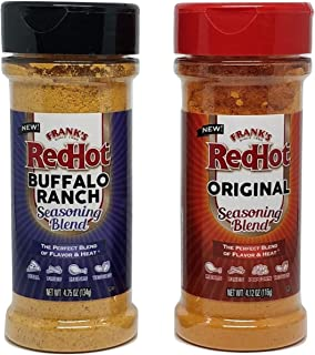 product image for Frank's RedHot Seasoning Set: Frank's RedHot Original and Buffalo Ranch - Set of 2 Frank's RedHot Seasoning Blends