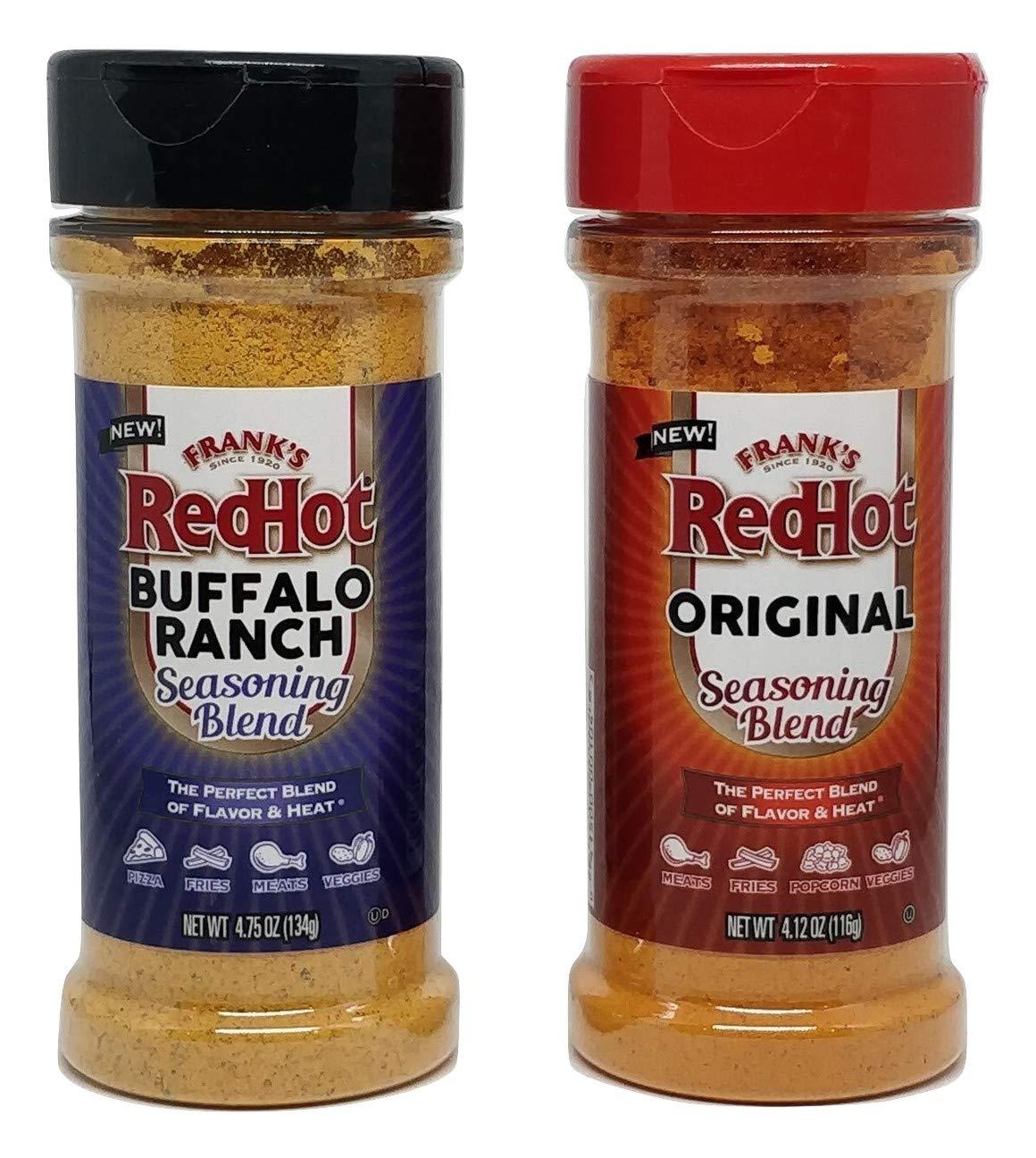 Frank's RedHot Seasoning Set: Frank's RedHot Original and Buffalo Ranch - Set of 2 Frank's RedHot Seasoning Blends