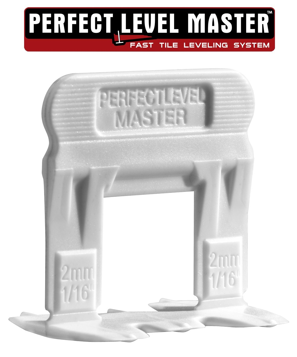 T-Lock ™ 1/16'' (2mm) 1500 Clips '' PERFECT LEVEL MASTER ™ Professional '' Anti lippage '' Tile leveling system - (spacers only), Red wedges not included and sold separately!