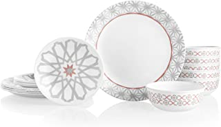product image for Corelle 18-Piece Service for 6, Chip Resistant Dinnerware Set, Amalfi Rosa