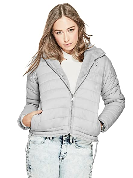 GUESS Womens Alessia Reversible Puffer Jacket