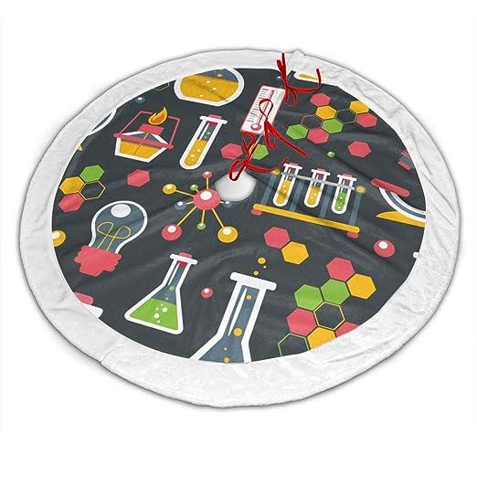CZLXD Faldas para árbol de Navidad con diseño de Ciencias químicas ...