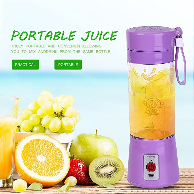 ulable 380 ml USB eléctrico exprimidor de fruta Manual Batidora smoothie Maker Blender Juice taza: Amazon.es: Electrónica