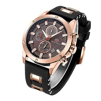 5a8055e6b Casual Sport Watches for Men,Fashion Quartz Watch,MINI FOCUS Mens  Chronograph Waterproof Wristwatch