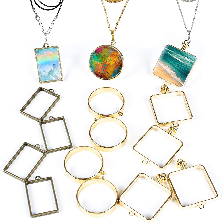 Jewelry Bezel Xmas Gifts Jewelry Frame Gift for Her Hollow Frame Bezel Open Bezel Hollow Bezel Connector Charms Jewelry Making