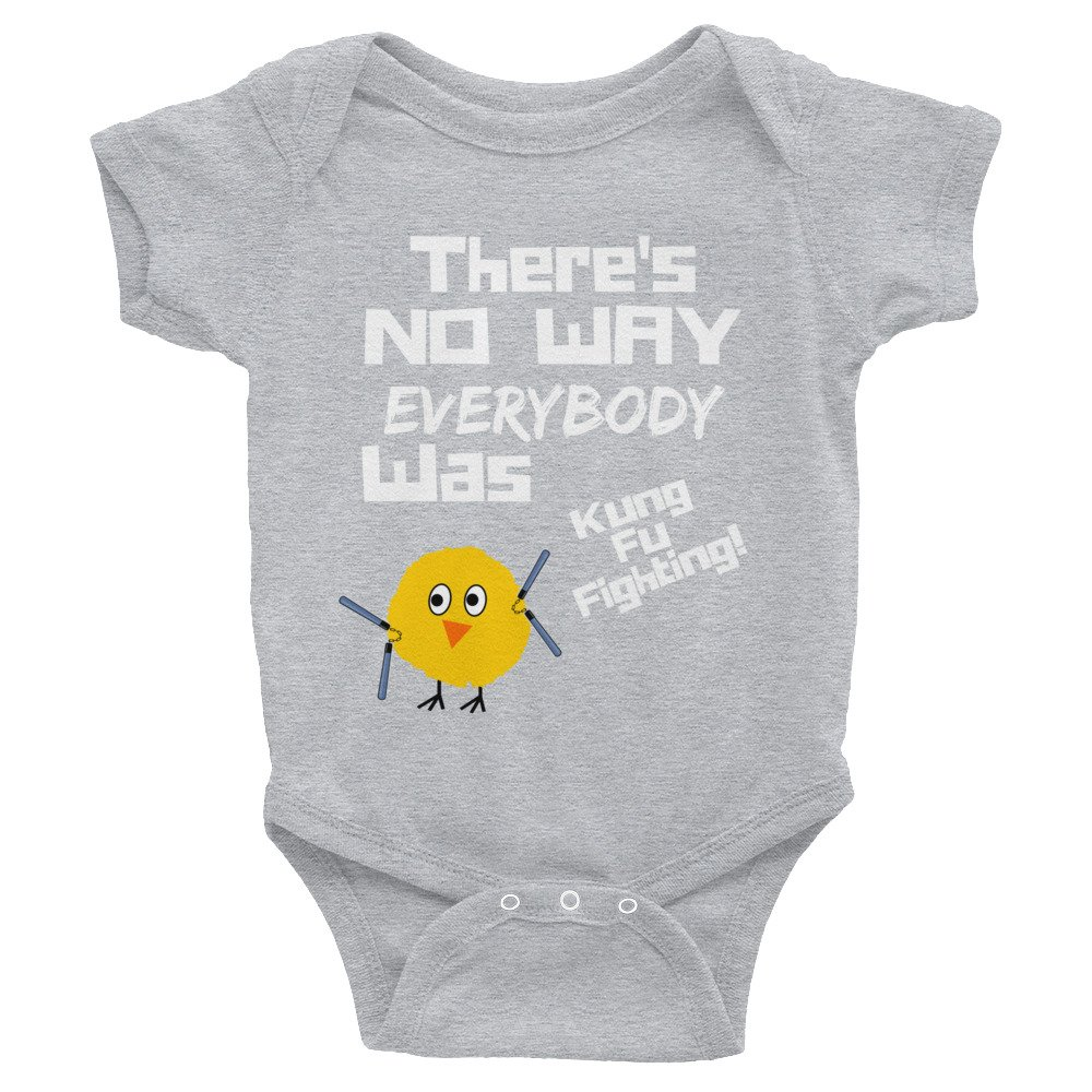 Poultry Humor Kung Fu Chicken Sarcastic Silly Attitude Infant Bodysuit AndieJ Studio