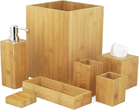 Mk Bamboo London Bathroom Accessory Set Amazon Co Uk Electronics