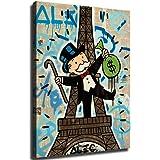 artwu Alec Monopoly - Cuadro al óleo sobre lienzo (61 x 91 cm), diseño con texto en inglés