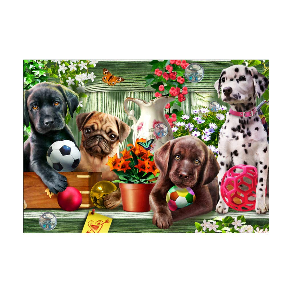 Ranuw Stickfarbe, Hund 5D DIY Full Diamond Painting Stickerei Cross Craft Stitch Home Wall Decor