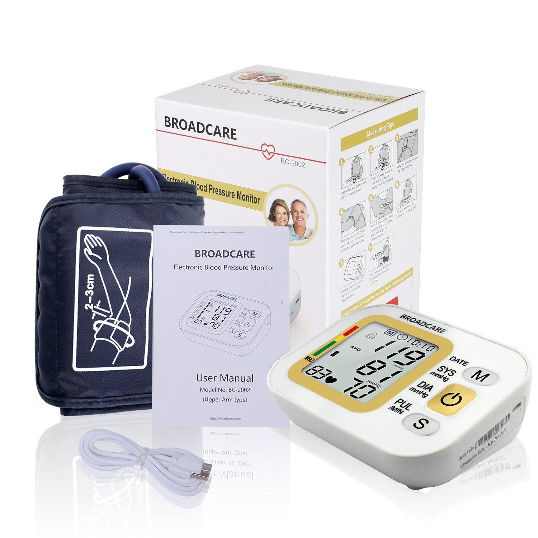 broadcare - Tensiómetro electrónico brazo - Tensiómetro de brazo Digital Automático con USB Carga: Amazon.es: Salud y cuidado personal