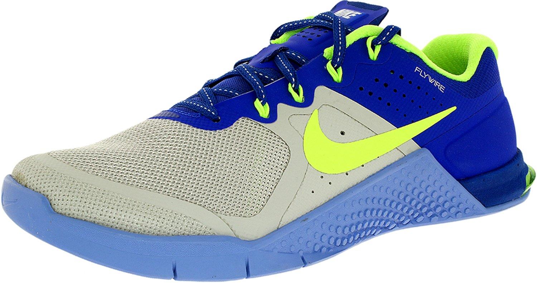 NIKE Women's Metcon 2 Ankle-High Fashion Sneaker B001F739UA 6 B(M) US Pure Platinum/Ghost Green-racer Blue-chalk