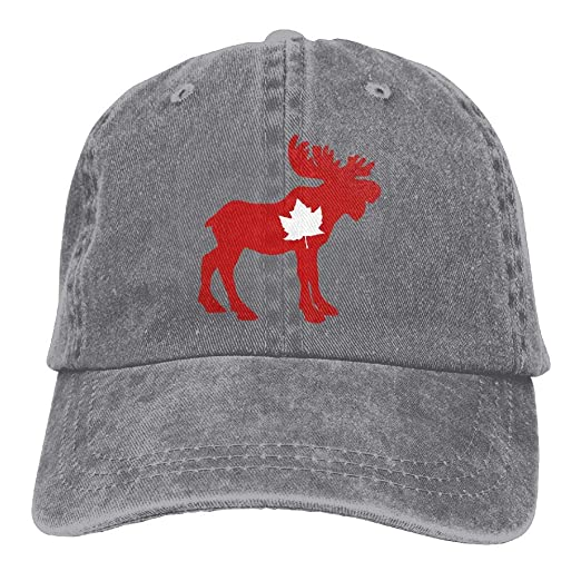 e9cbce3ef Moose Maple Leaf Baseball Cap Dad Hat Adjustable Hat Outdoor Caps at ...