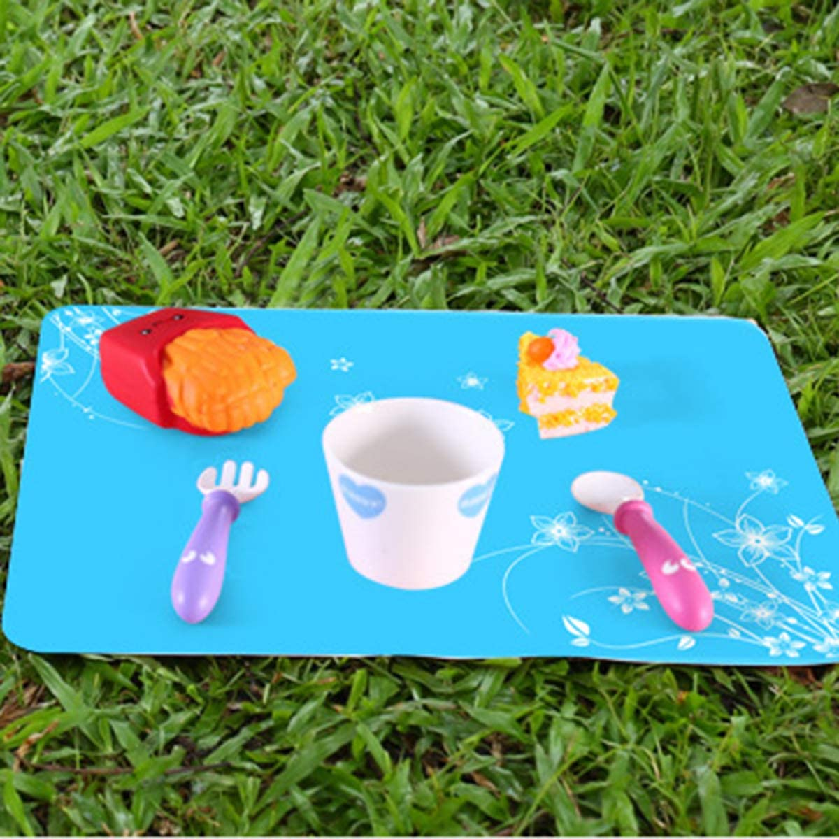 4 Piezas de Caf/é DaMohony Manteles Individuales Manteles Individuales de Silicona Aislantes Antideslizantes Esteras para Hornear Mesas Posavasos.