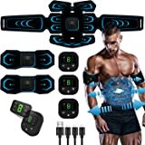 Ben Belle Abs Stimulator, Muscle Toner, Abs Stimulating Belt, Abdominal Toner- Training Device for Muscles- USB Rechargeable