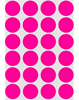 Rounded Dot Stickers 19mm Colored Labels 3//4 Inch Permanent Adhesive 600 Pack