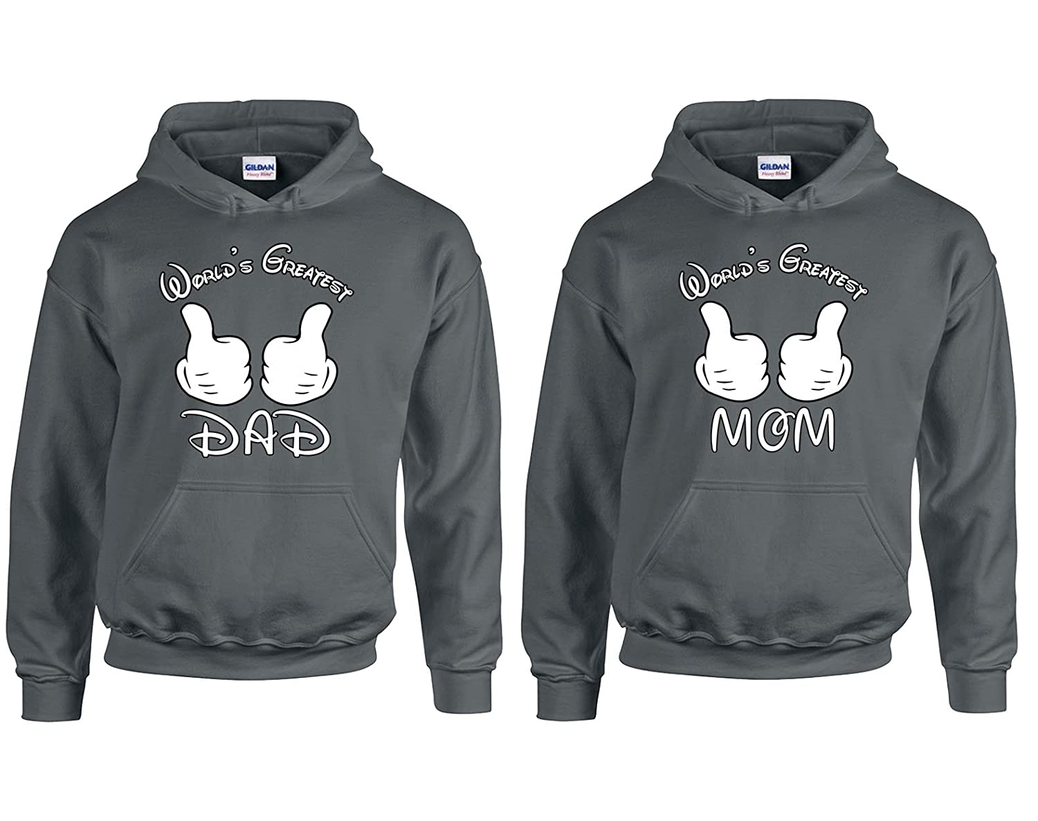 Falcons Shop Worlds Greatest Dad and Mom Valentines Day Special Hoodie Hooded Sweatshirt 1