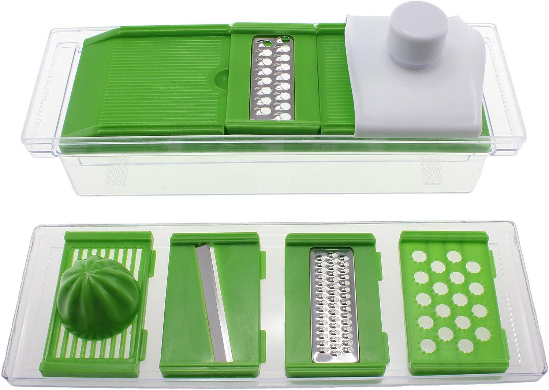 Freshware 8-in-1 Kitchen Mandoline Slicer/Grater/Juicer with Food Safety Holder