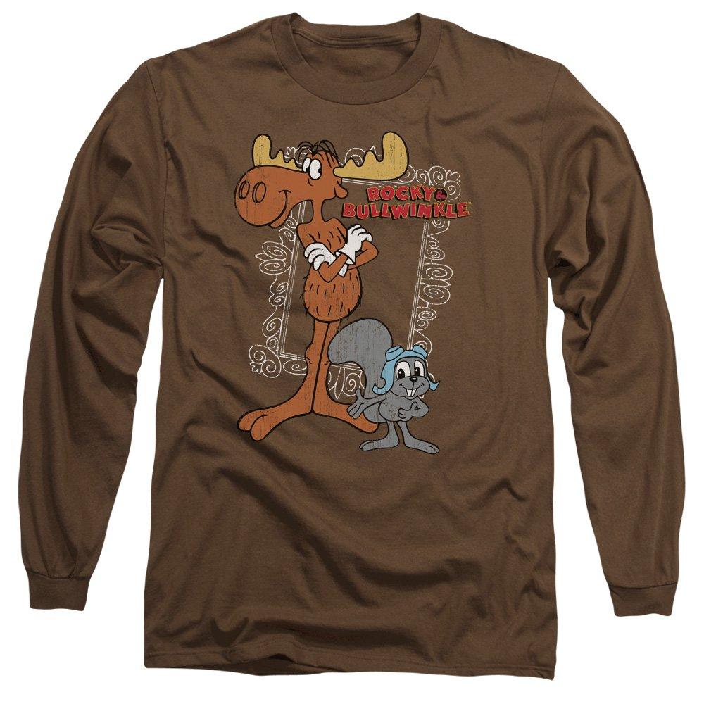 8ecb09805fc Amazon.com: Trevco Rocky & Bullwinkle Best Chums Mens Long Sleeve ...