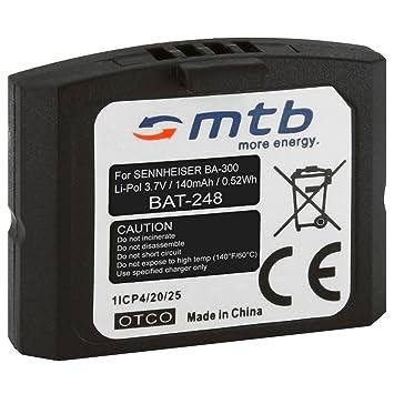 Batería BA-300 para auriculares inalámbricos Sennheiser RI 410 (IS 410), RI