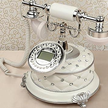Retro Telefon Festnetz Heimgebrauch Festes Buro Retro Telefon Weiss