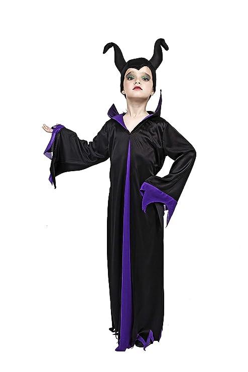 Costumizate! Disfraz de Malefica Talla 1-3 Especial para niños Fiestas de Disfraces o Carnaval