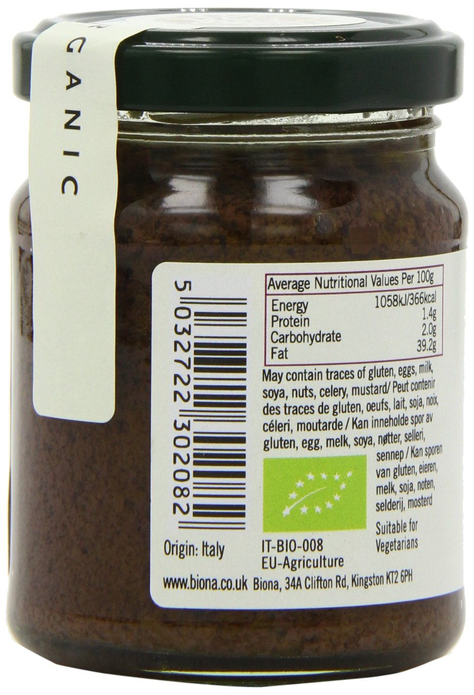 Amazon.com : Biona Organic Black Olive Pate 120g - Pack of 6 : Grocery & Gourmet Food
