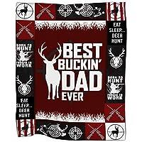 SMLBOO Best Buckin Dad Ever Cozy Fleece Blanket