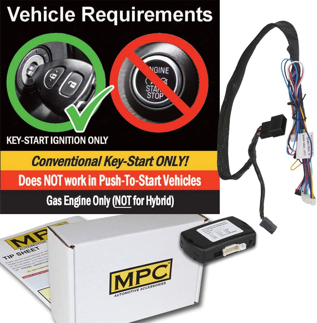 Plug-n-Play MPC Factory Remote Activated Remote Start Kit for 2011-2014 Chrysler 200 Firmware Preloaded Key-to-Start