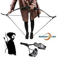 Toparchery Spannschnur recurvebogen Spannhilfe Bogenspanner Spannschnur Recurve und Langbögen geeignet (schwarz)