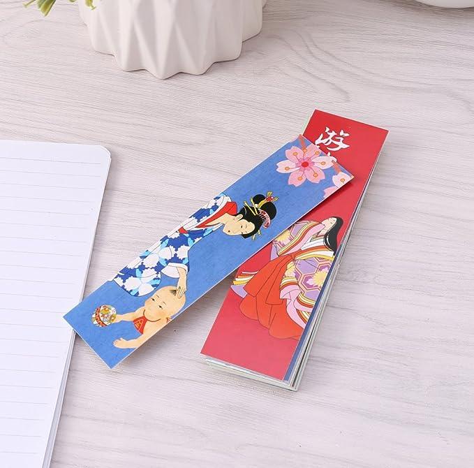 FlyHigh 30 Teile//Beutel Papier Lesezeichen Vintage Buchmarken Im Japanischen Stil F/ür Sch/üler