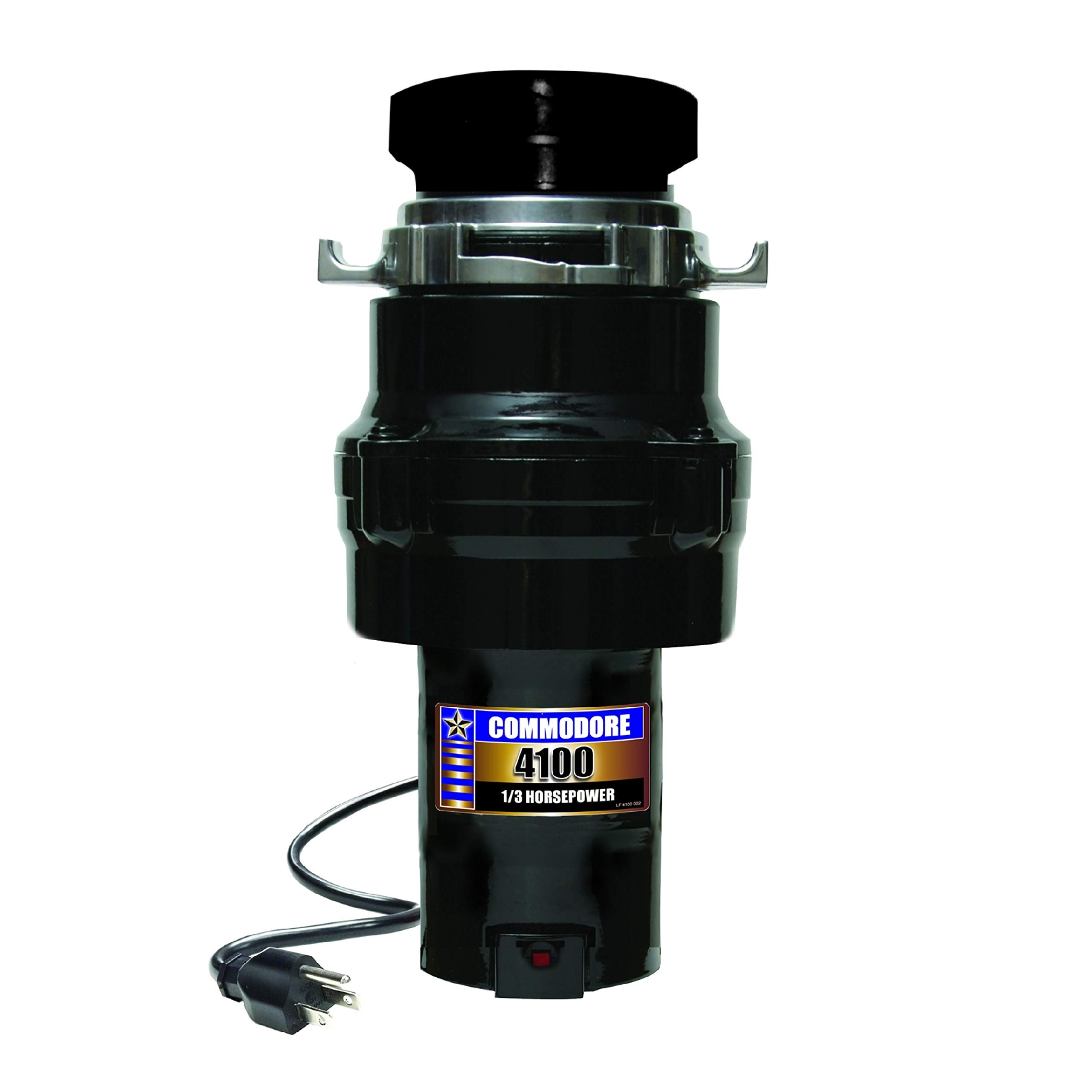 Commodore 10-US-CD-4100-AP Apartment Pack 1/3 HP Food Waste Disposer with Power Cord, Black