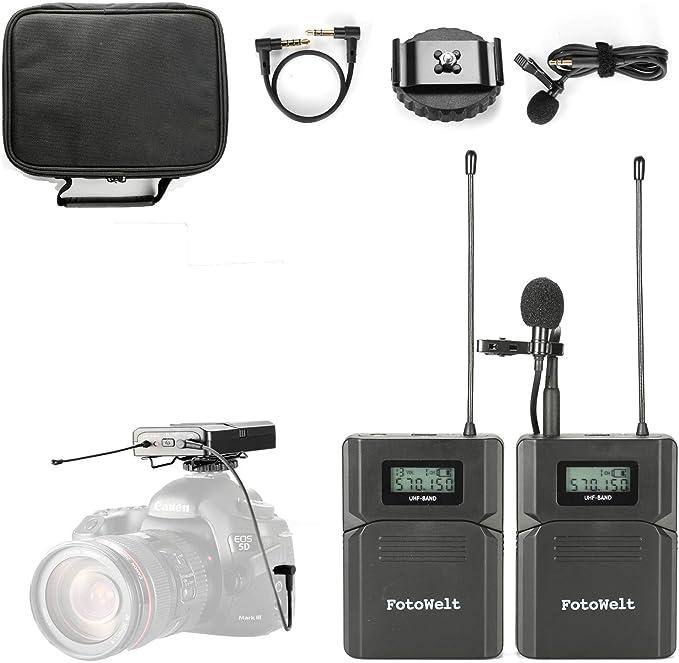 Pixel UHF Micrófono Lavalier Inalámbrico con Tiempo Real Monitor ...