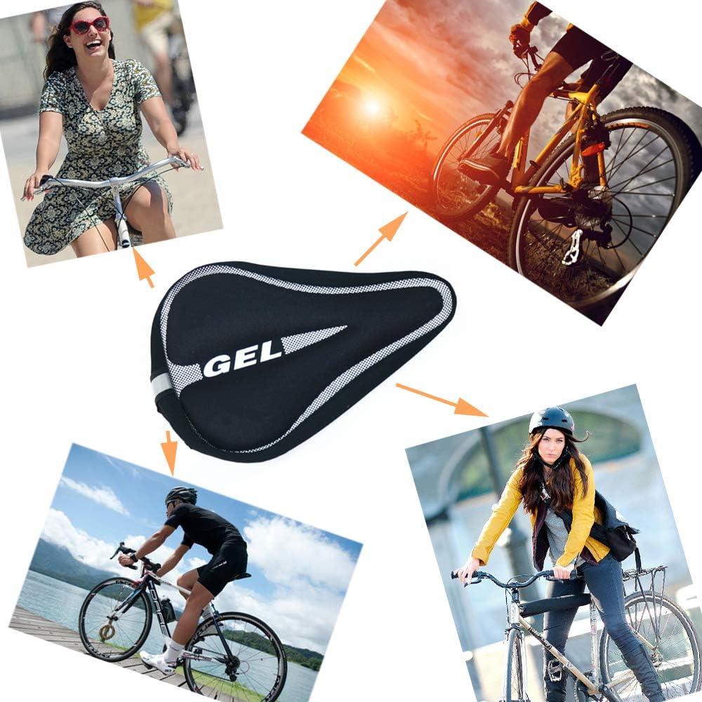 18 x 28 cm Coprisella Cyclette Gel Coprisella Bici City Bike etc Sella Bici Professionale per Ciclismo Adatto a Mountain Bike Totill Coprisella per Bicicletta Memory Foam