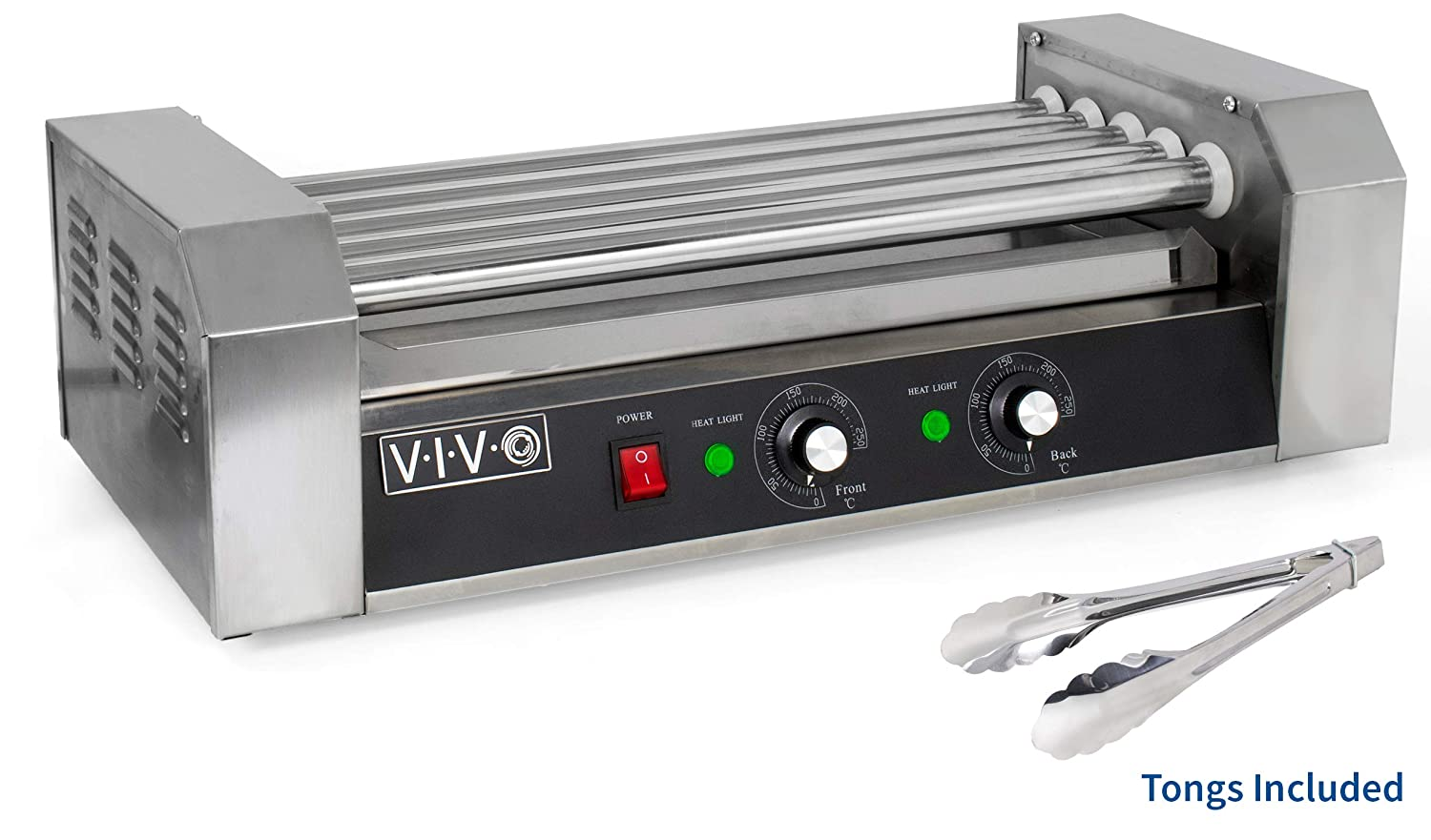VIVO Electric 12 Hot Dog & Five (5) Roller Grill Cooker Warmer Machine (HOTDG-V005)