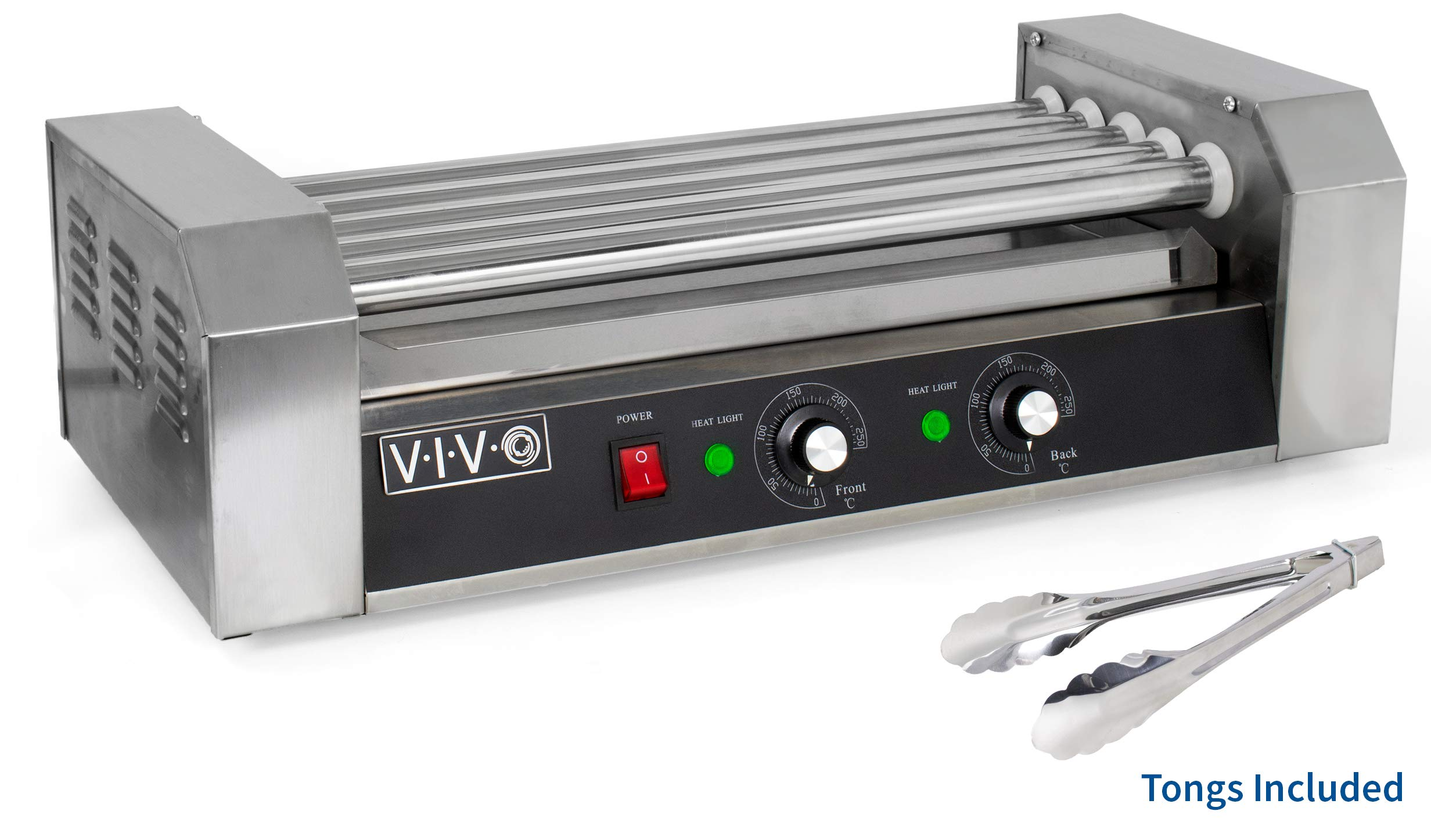 VIVO Electric 12 Hot Dog and 5 Roller Grill Cooker Warmer   Cooker Machine (HOTDG-V005) by VIVO