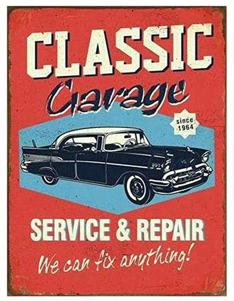 i.st home Cartel de Metal Vintage - Classic Garage Service ...