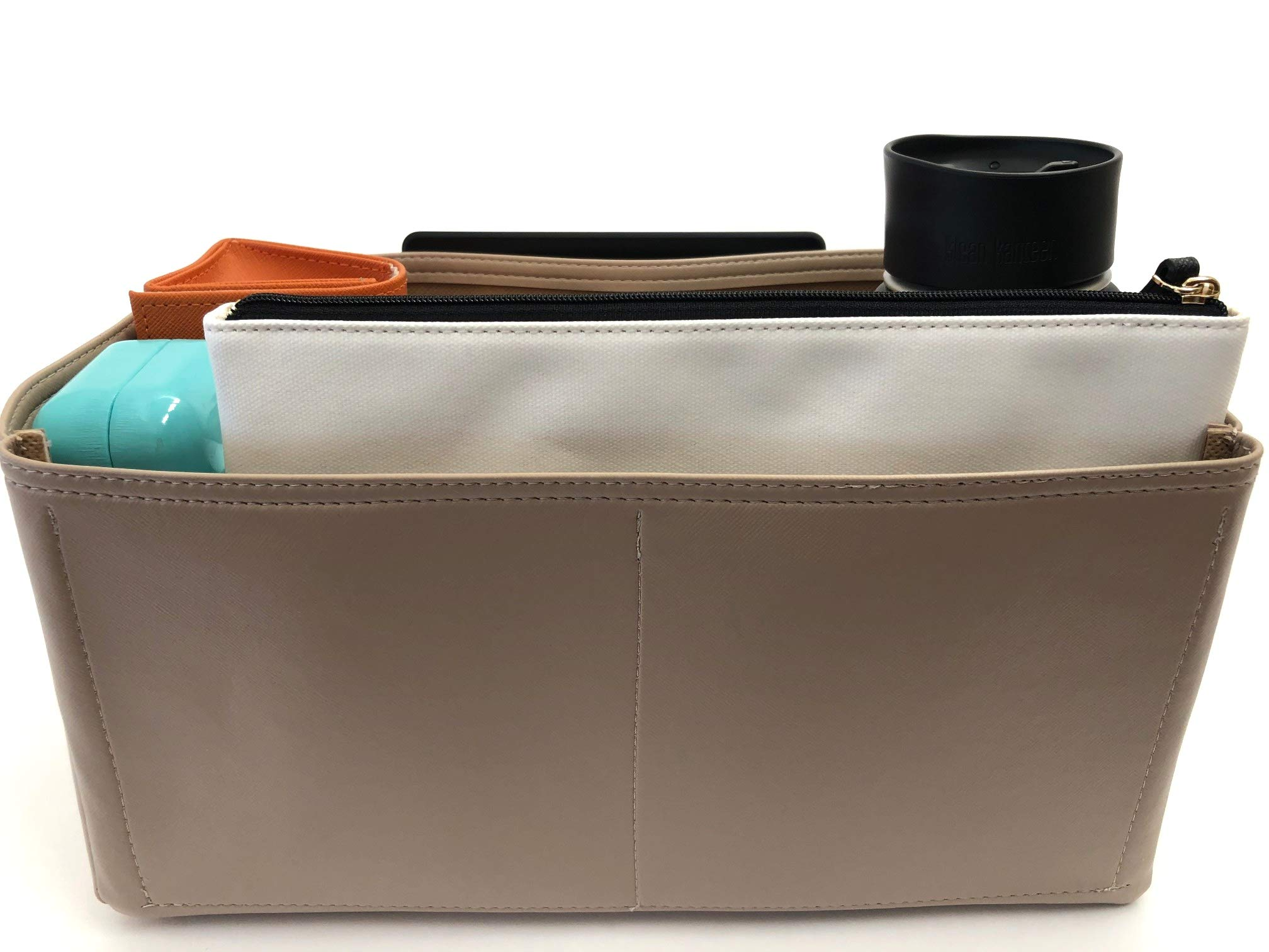 Purse Organizer Insert for Hermes Garden Party Handbag - Fits inside Hermes Garden Party 36 bag - Vegan Leather (36, Beige)