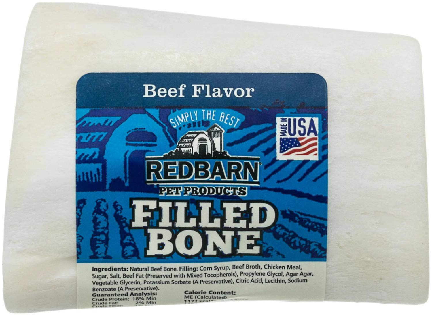 Redbarn Bone Small Filled Beefy