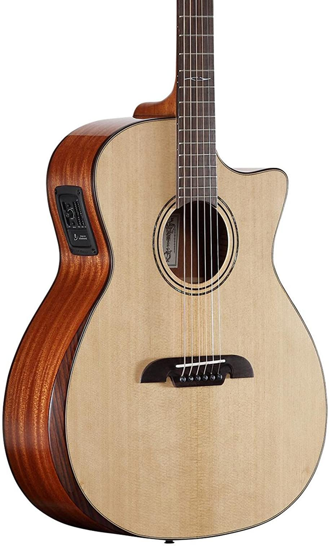 Alvarez ag60cear Grand Auditorium Guitarra acústica con cutaway electrificada Ed Armrest