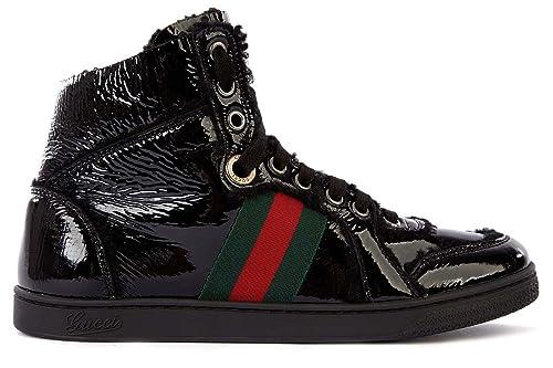 Gucci Zapatos Zapatillas de Deporte largas Mujer en Piel Merinos Negro EU 38.5 270082 BTJ10 1072: Amazon.es: Zapatos y complementos