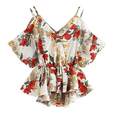 300aa5e0929b Moouny 2018 Creative Design Fashion Women Summer Simple Casual Women  Holiday Fashion Women Summer Short Sleeve BlouseLady Summer Floral Print  Dip Hem Tops V ...