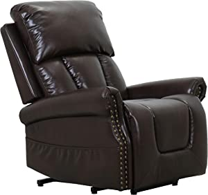 "Amazon Brand – Ravenna Home Albert Power-Lift Assist Recliner Chair, 34.3""W, Dark Brown"