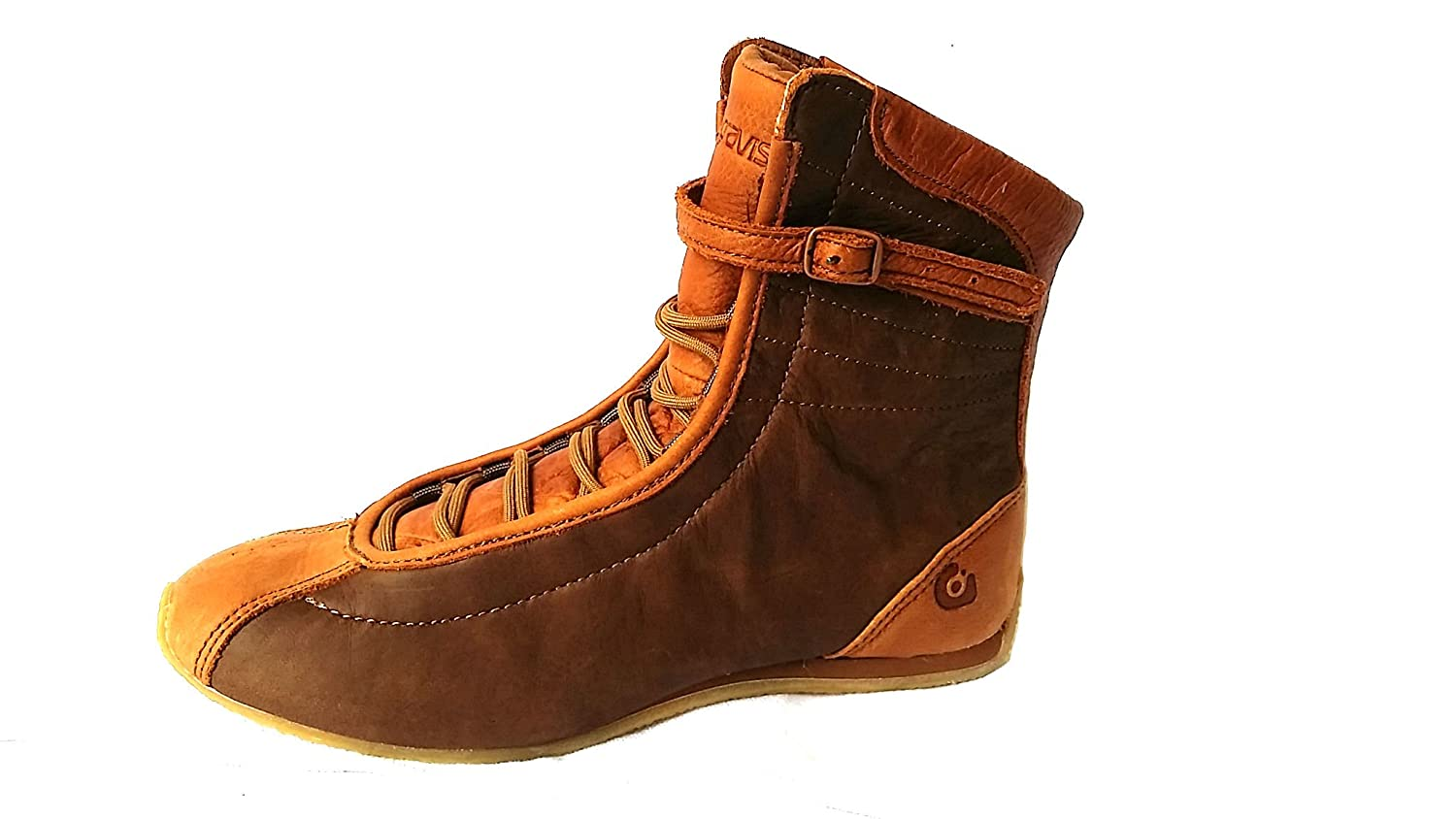 Gravis Misha Pride Skate Shoes Womens High Tops Lace up Brown Saddle Leather Sneakers Size
