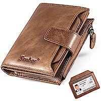 Senbos Carteras para Hombre, Piel Monedero con RFID Bloqueo, 18 Ranuras para Tarjetas de Crédito, 1 Bolsillo con…
