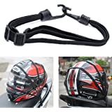 Kangnice Retractable Elastic Rope Strap for Motorcycle Helmet Luggage, 2 Hooks